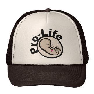 Pro-Life Fetus Design Mesh Hats