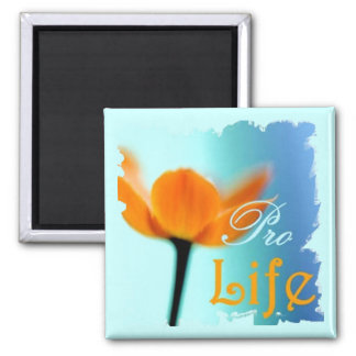 Pro Life Flower Magnet