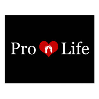 Pro-Life Heart and Baby Feet Postcard