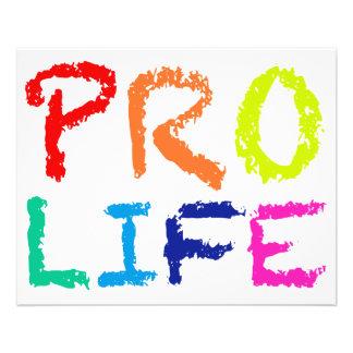 """PRO LIFE"" (IN RAINBOW CRAYONS) FLYER"