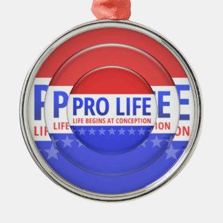 Pro Life Metal Ornament