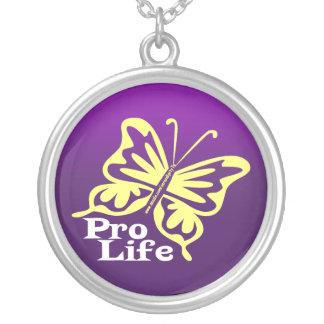 Pro Life Round Pendant Necklace