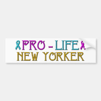 Pro-Life New Yorker Bumper Sticker
