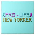 Pro-Life New Yorker Ceramic Tile