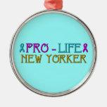 Pro-Life New Yorker Christmas Ornament