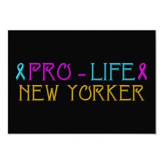 Pro-Life New Yorker Custom Invitation