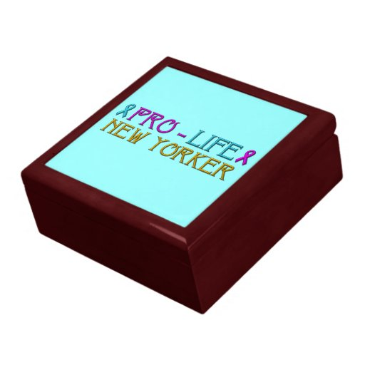 Pro-Life New Yorker Jewelry Box