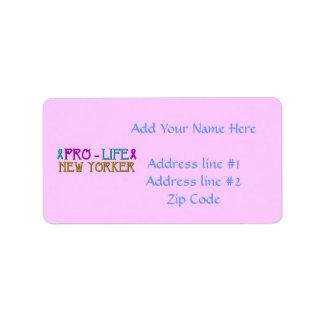Pro-Life New Yorker Label