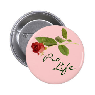 Pro-Life on Pink Floral 2 Inch Round Button