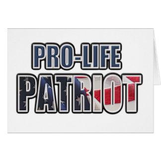 Pro-Life Patriot Card