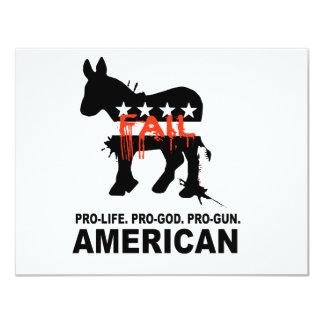 Pro-life. Pro-God. Pro-Gun American Card