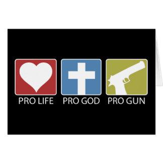 Pro Life, Pro God, Pro Gun Card