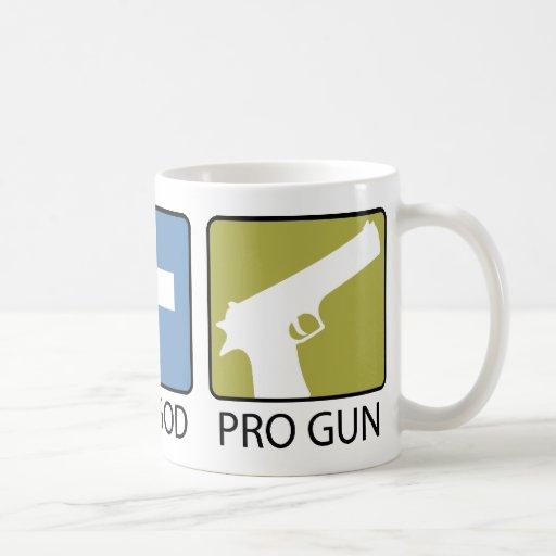 Pro Life, Pro God, Pro Gun Classic White Coffee Mug