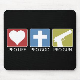 Pro Life Pro God Pro Gun Mouse Pads