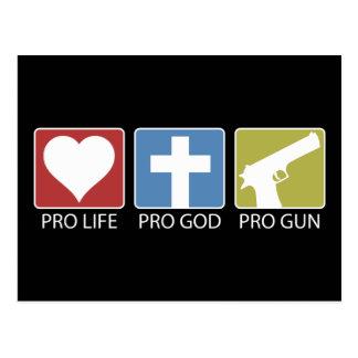 Pro Life, Pro God, Pro Gun Postcard