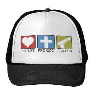 Pro Life, Pro God, Pro Gun Trucker Hat