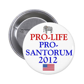 Pro-Life Pro-Santorum Pinback Button