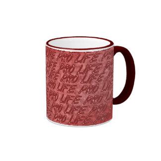 Pro Life Red Ringer Coffee Mug