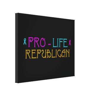 Pro-Life Republican Canvas Print