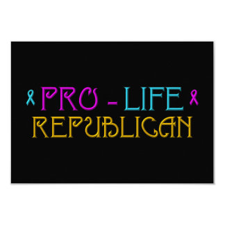 Pro-Life Republican Card