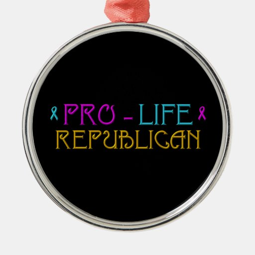 Pro-Life Republican Christmas Ornaments