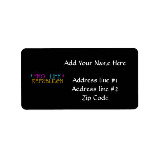 Pro-Life Republican Personalized Address Label