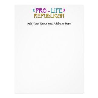 Pro-Life Republican Letterhead