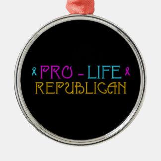Pro-Life Republican Metal Ornament