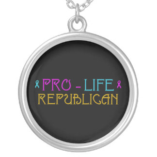 Pro-Life Republican Silver Plated Necklace