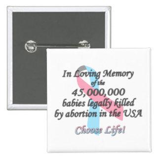 Pro Life Ribbon, In Loving Memory Pro-Life Pin
