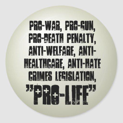 Pro-Life Round Stickers