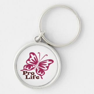 Pro Life Silver-Colored Round Keychain