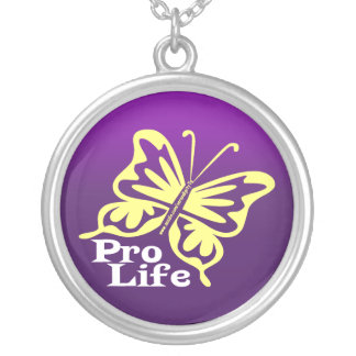 Pro Life Silver Plated Necklace