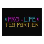 "Pro-Life Tea Partier 3.5"" X 5"" Invitation Card"