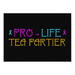 "Pro-Life Tea Partier 5"" X 7"" Invitation Card"