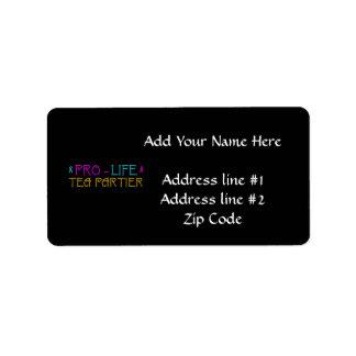 Pro-Life Tea Partier Label