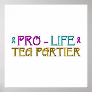 Pro-Life Tea Partier Poster