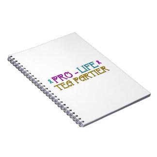Pro-Life Tea Partier Spiral Notebook