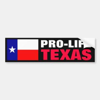 Pro-Life Texas Car Bumper Sticker