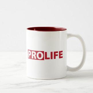 Pro Life Two-Tone Coffee Mug