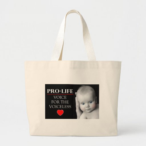 Pro-Life Voice for the Voiceless Tote Bags