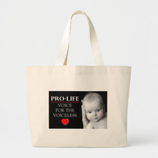 Pro-Life Voice for the Voiceless Large Tote Bag