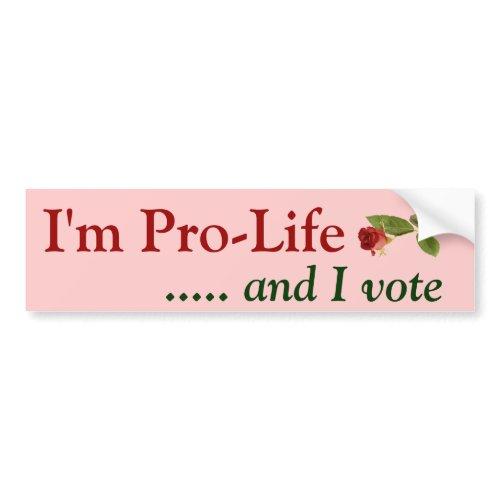 Pro Life Voter bumpersticker