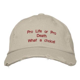 pro life vs pro death cap