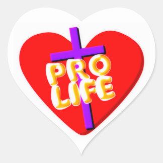 Pro Life with Christian heart design Heart Sticker