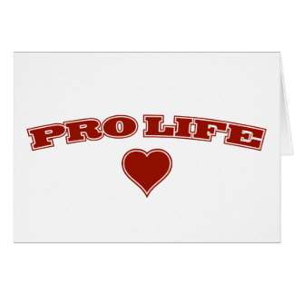 Pro Life with Heart Card