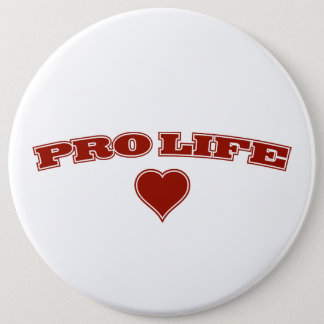 Pro Life with Heart Pinback Button