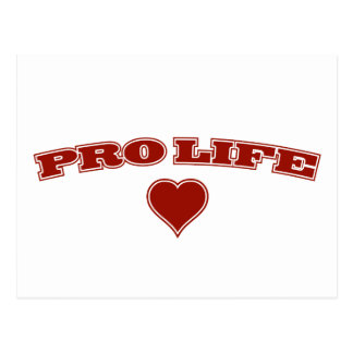 Pro Life with Heart Postcard