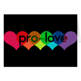 Pro Love say no to prop 8 h8 Greeting Card