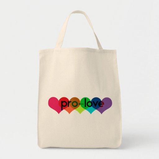 Pro Love say no to prop 8 h8 Grocery Tote Bag